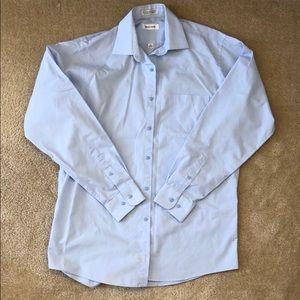 Pierre Cardin Blue Button Down Dress Shirt 15-15.5